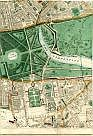 Paddington, Bayswater, Cemetery Of St George Hanover Sq (Closed), Uxbridge Road, Kensington Gardens, Hyde Park, The Serpentine, Albert Memorial, Royal Albert Hall, Kensingtion, Horticultural Society, Knightsbridge, Metropolitan District Railway, & Brompton