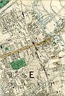 Duckett's Canal, Old Ford, North London Railway, Embankment of the Main Drainage Northern Outfall Sewer, East London Water Works, Great Eastern Railway, Bow, Stratford, Mile End Old Town, City of London and Tower Hamlets Cemetery, Blackwall Extension Railway, London Tilbury & Southend Railway, Limehouse Cut, & Bromley
