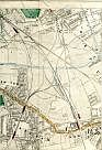 Southwark Park, East London Railway, Deptford, Grand Surrey Canal, South Eastern Railway, London Brighton & South Coast Railway, West End & Crystal Palace Railway, South Eastern Railway (Bricklayers Arms Extension), Peckham New Town, Hatcham, & New Cross